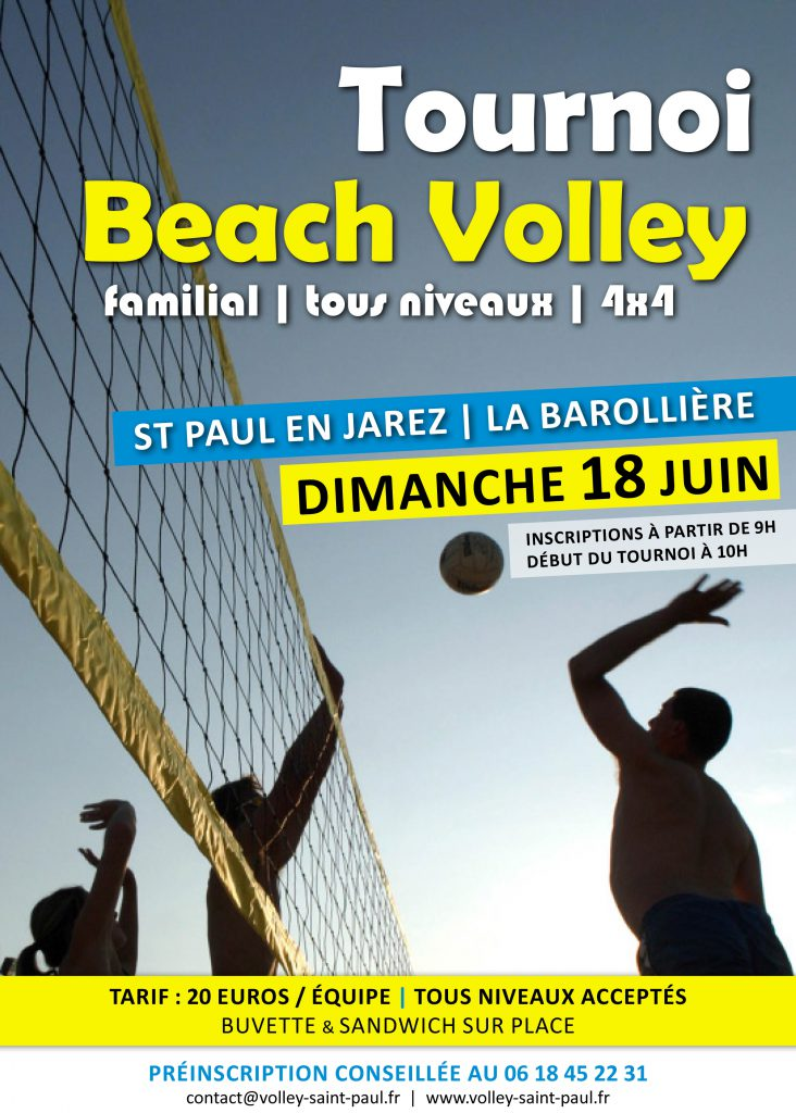 affiche tournoi volley st paul 2017